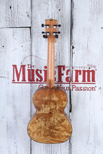 Load image into Gallery viewer, Kala Salted Caramel Exotic Burl Tenor Ukulele Burled Cypress Uke with Gig Bag