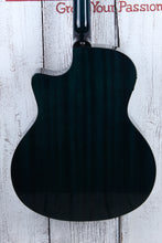 Load image into Gallery viewer, Luna Gypsy Quilt Ash Grand Concert Cutaway Acoustic Electric Guitar Trans Teal