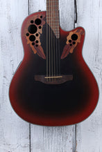 Load image into Gallery viewer, Ovation Celebrity Elite CE44 Mid Depth Acoustic Electric Guitar Reverse Red