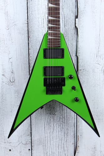 Jackson X Series King V KVXMG Electric Guitar Slime Green with Black Bevels