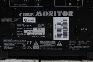 Roland CM-30 CUBE Monitor 30 Watt Multi Purpose Portable Mixing Powered Monitor