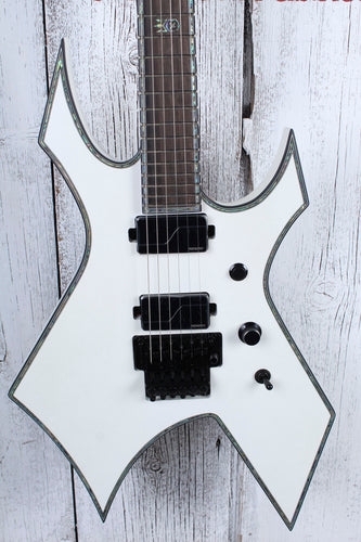 BC Rich Warlock Extreme Electric Guitar Matte White Finish with Hardshell Case