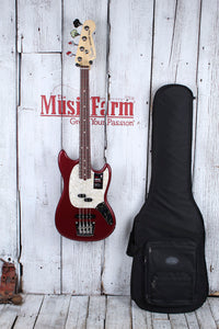 Fender® American Performer Mustang Bass 4 String Electric Bass Guitar w Gig Bag