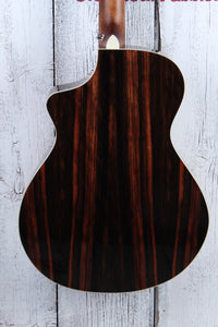 Breedlove Pursuit Exotic Concert CE Acoustic Electric Guitar Striped Ebony