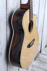 Breedlove Pursuit Exotic Concert CE Acoustic Electric Guitar Striped Ebony Body