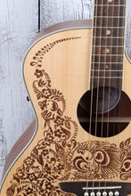 Load image into Gallery viewer, Luna Henna Oasis Select Spruce Acoustic Electric Guitar Open Pore HEN OA SPR