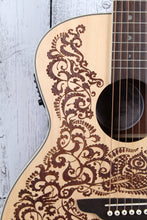 Load image into Gallery viewer, Luna Henna Paradise Acoustic Electric Guitar Select Spruce Natural HEN PA SPR