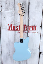 Load image into Gallery viewer, Fender® Squier Mini Jazzmaster HH Electric Guitar 22.75 Inch Scale Daphne Blue