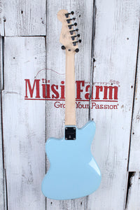 Fender® Squier Mini Jazzmaster HH Electric Guitar 22.75 Inch Scale Daphne Blue