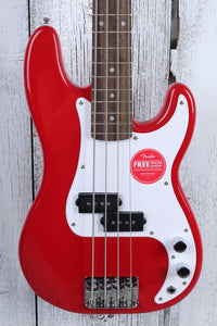 Fender® Squier Mini Precision Bass 4 String Electric P Bass Guitar Dakota Red