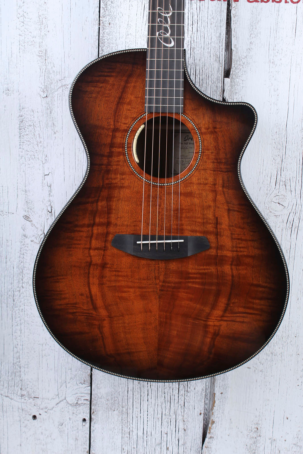 Breedlove Jeff Bridges Limited Oregon Concerto Bourbon Acoustic Electric Guitar