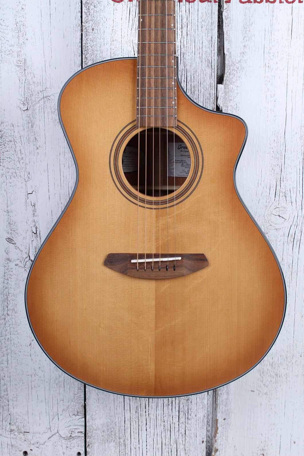 Breedlove Organic Signature Concert Copper CE Acoustic Electric Guitar w Gig Bag