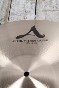 "Used Zildjian A Custom Medium Thin Crash 18"" Cymbal"