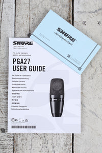 Shure PGA27-LC Large Diaphragm Side Address Cardiod Condenser Microphone