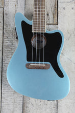 Load image into Gallery viewer, Fender Fullerton Jazzmaster Uke Acoustic Electric Concert Body Ukulele Tidepool