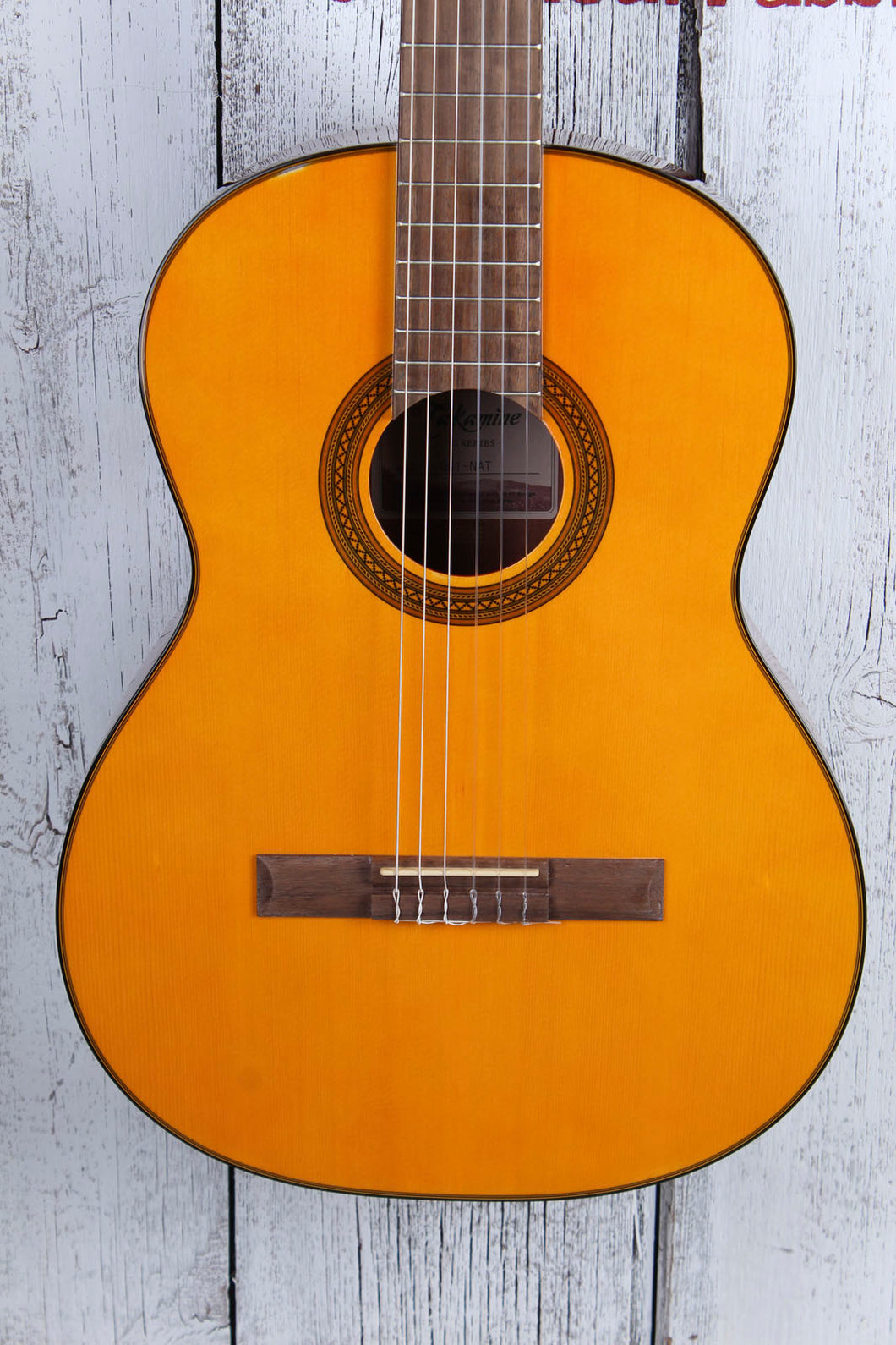 TAKGC1NAT_TC19044142 Takamine Classical with spruce top, sapele back and sides, -SLIGHT FLAW