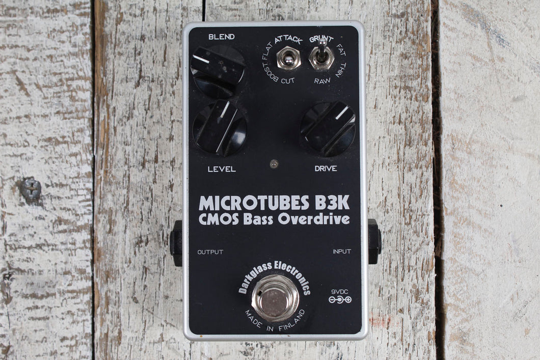 Used Darkglass MicroTubes B3K Electric Bass PreAmp Overdrive Effects Pedal