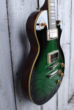 Load image into Gallery viewer, Epiphone Les Paul Standard Plus Top Electric Guitar Flame Maple Green Burst