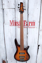 Load image into Gallery viewer, Ibanez SR375EF Fretless 5 String Electric Bass Guitar Brown Burst Finish