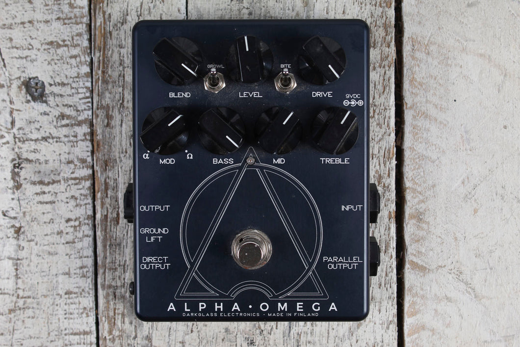 Used Darkglass Alpha Omega Overdrive Electric Bass Effects Pedal