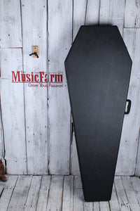 Coffin Extreme & Flying V Electric Guitar Hardshell Case Black Velvet Interior