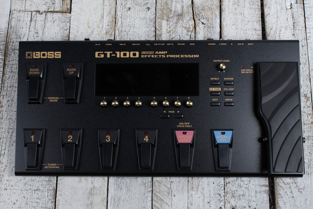 Boss GT-100 Electric Guitar Multi Effect Pedal COSM Guitar Amp Effects Processor