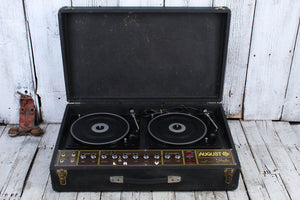 August by Dave Simms Vintage MD1 Series 5 Dual Turntable Classic DJ Disco Deck