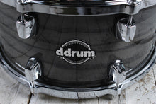 Load image into Gallery viewer, ddrum Dominion Series 7 x 13 Birch Snare Drum with Ash Veneer Transparent Black