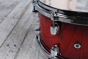 ddrum Dominion Series 7 x 13 Birch Snare Drum with Ash Veneer Red Burst Lacquer