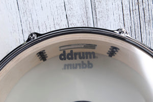 ddrum Dominion Series 5.5 x 14 Birch Snare Drum with Ash Veneer Red Burst