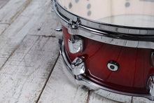 Load image into Gallery viewer, ddrum Dominion Series 5.5 x 14 Birch Snare Drum with Ash Veneer Red Burst