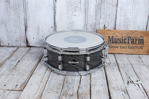 ddrum Dominion Series 5.5 x 14 Birch Snare Drum with Ash Veneer Trans Black