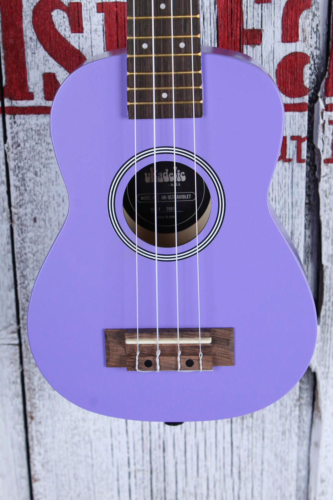 Kala Ukadelic Ultra Violet Soprano Ukulele Wood Uke UK-ULTRAVIOLET with Tote Bag
