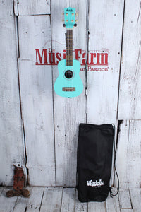 Kala Ukadelic Frost Bite Soprano Ukulele All Wood Uke UK-FROSTBITE with Tote Bag