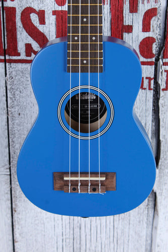Kala Ukadelic Blue Ink Soprano Ukulele All Wood Uke UK-BLUEINK with Tote Bag