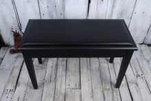 Load image into Gallery viewer, On-Stage KB8904B Deluxe Piano Bench with Storage Compartment Black Padded Vinyl
