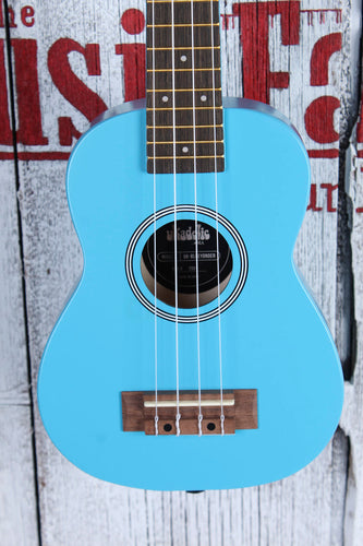 Kala Ukadelic Blue Yonder Soprano Ukulele All Wood Uke UK-BLUEYONDER w Tote Bag