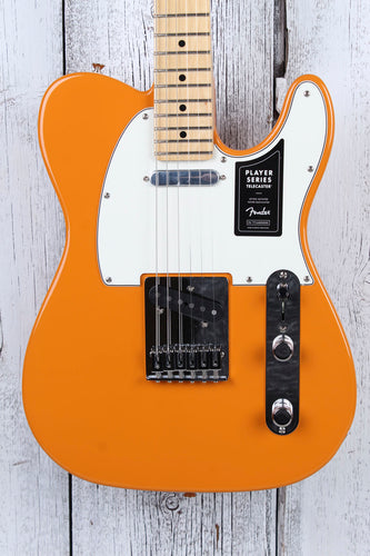 Fender Player Telecaster Electric Guitar Tele Made In Mexico Capri Orange Finish