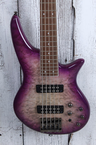 Jackson JS Series Spectra Bass JS3QV 5 String Electric Bass Guitar Purple Phaze