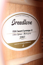 Load image into Gallery viewer, Breedlove USA Concert E Acoustic Electric Guitar 2019 PROTOTYPE #1 with Case