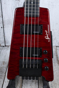 Steinberger XT-25 Quilt Top 5 String Headless Electric Bass Guitar with Gig Bag