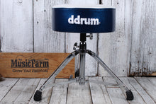 Load image into Gallery viewer, ddrum Mercury Fat Double Braced Drum Throne White and Blue Sparkle MFAT WB