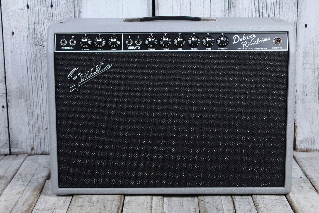 Fender LTD '65 Deluxe Reverb Slate Gray Redback Electric Guitar Combo Amplifier