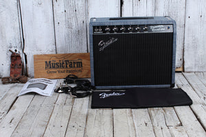 Fender Limited Princeton Reverb Chilewich Denim Electric Guitar Combo Amplifier