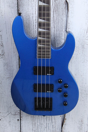 Jackson JS Series JS3 4 String Electric Concert Bass Guitar Metallic Blue Gloss