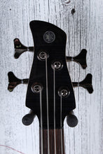 Load image into Gallery viewer, Yamaha TRBX604 FM TBL 4 String Electric Bass Guitar Flame Maple Top Trans Black