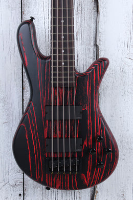 Spector NS Pulse Series 5 String Electric Bass Guitar Cinder Red with Gig Bag