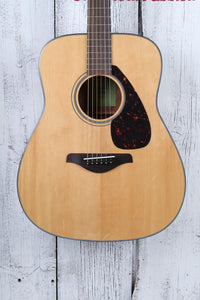 Yamaha Dreadnought Acoustic Guitar Solid Spruce Top Natural Gloss Finish FG800