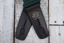 "Load image into Gallery viewer, Lock-It Straps 2"" Poly Pro Series Strap - Dark Green w/Brown"