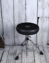 Load image into Gallery viewer, Roc N Soc Manual Spindle Drum Throne Adjustable Height Round Seat Black